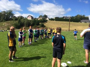 Rugby Team Building on Field